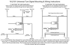 universal turn signal wiring diagram motorcycle turn signal wiring