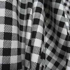 black on white 100 cotton print fabric check pattern gingham