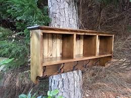 coastal oak designs rustic decor coat rack with cubby shelf