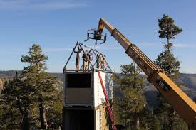 off grid container home in the tahoe national forest