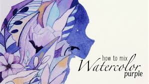 how to mix watercolors purple