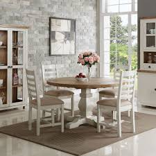 hutch mowbray cream painted reclaimed round pedestal dining table