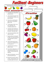 Esl Vocabulary Worksheets 154 Free Esl Fruits Worksheets