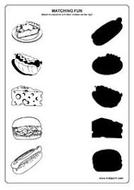 food worksheets matching worksheets for kids science matching