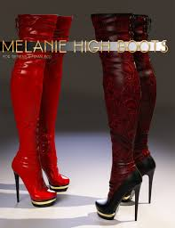 s high boots melanie high boots for genesis 3 s 3d models and 3d