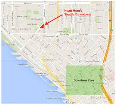 Seattle Map Downtown by Hyatt House Seattle Downtown Singleflyer