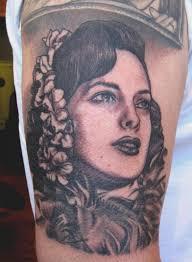 vintage woman portrait tattoo design design of tattoosdesign of