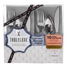tableluxe faux flatware sets tableluxe