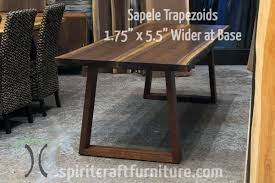 live edge table chicago table legs and bases for hardwood slab table tops