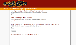 Desk Height Calculator by How To Hang A Painting A Free Guide From Xanadu Gallery