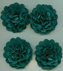 blue carnations teal carnation paper flowers