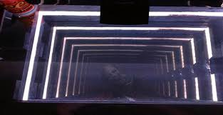 an infinity mirror desk that i made pics
