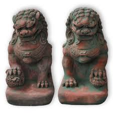foo lion statue dog statue guardian lion sandstone