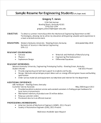 Template Student Resume 38 Sample Resume Templates Free U0026 Premium Templates