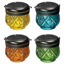 ace hardware solar lights paradise garden solar glass jar with hook set of 12 assorted