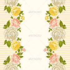 rose frame invitation card background border calligraphy