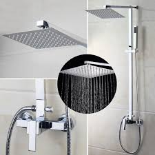 popular wall bath tap buy cheap wall bath tap lots from china wall us bathroom shower faucet wall mounted bath shower mixer tap 52004 torneira do chuveiro with hand