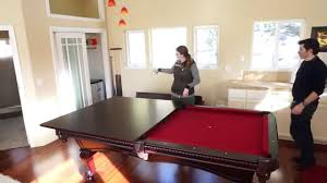 Pool Table Top For Dining Table Using The Pool Table Dining Table Conversion Top In The Guest