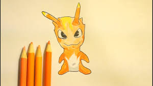 how to draw slugterra burpy easy step by step youtube
