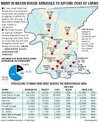 Louisiana On Map by Meet Alice Working Poor A Large Part Of 40 Percent Of Louisiana