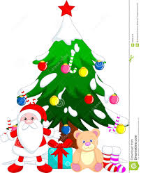 tree christmas cartoon stock photos image 35591373