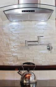 white stone backsplash kitchen home improvement design and