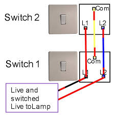 double light switch wiring two way light switching light fitting