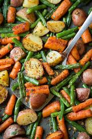 garlic herb roasted potatoes carrots and green beans cooking classy