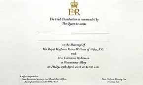 royal wedding invitation royal wedding invitation dress code revealed