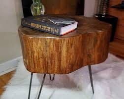 tree stump accent table tree stump table etsy