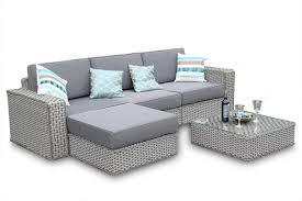 rattan corner sofa sutton 5pc rattan corner sofa set thick cushions whitewash