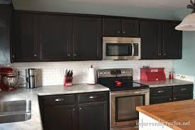 glass tile backsplash with dark cabinets gray subway tile backsplash dark cabinets farmersagentartruiz com