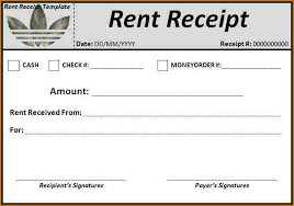 6 rent receipt template word authorizationletters org