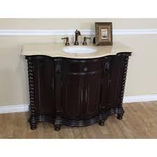 Bathroom Vanity Wood by 48 In Single Sink Vanity Wood Dark Mahogany Creama Marfil 600161