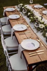 rustic table setting ideas best 25 wedding table settings ideas on pinterest wedding table