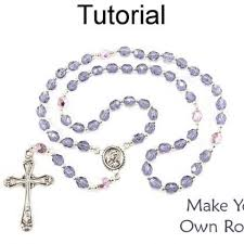 how to make a rosary beading tutorial pattern beaded rosary cross crucifix simple