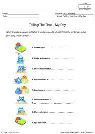 primaryleap co uk telling the time my day worksheet maths