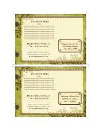 word postcard template free sample plumbing invoice example method