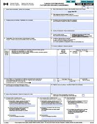 Microsoft Excel Form Templates Free Canada Customs Commercial Invoice Template Form Ci1 Excel