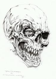 skull tattoo sketches pictures to pin on pinterest tattooskid