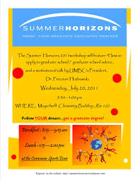 july 20 grad admissions summer horizons program on myumbc