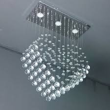 luxury crystal chandelier dining room led suspension light