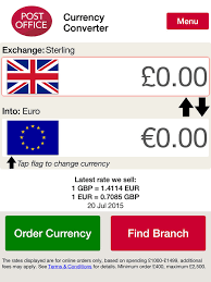 post office bureau de change exchange rates post office currency converter on the app store