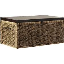 furniture rustic wicker trunk for vintage storage ideas
