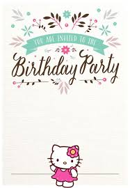 Hello Kitty Invitation Card Maker Free Free Hello Kitty Birthday Party Invitations Templates Image