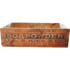 kirk soapowder soap powder kirkoline wood shipping crate box from