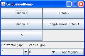 grid layout how to how to use gridlayout the java tutorials creating a gui with jfc