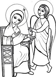 angel appears to mary and told her she conceived baby jesus