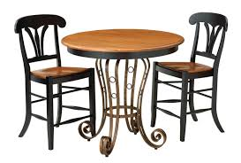 Pedestal Bar Table Solid Top Single Pedestal Pub Table By Keystone