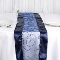 Navy Blue Lace Table Runner Floral Lace Table Runner Navy Blue Efavormart